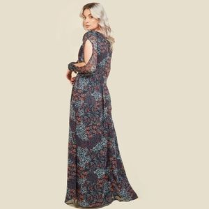 ModCloth Loop, Twirl, and Arch Navy Maxi Dress